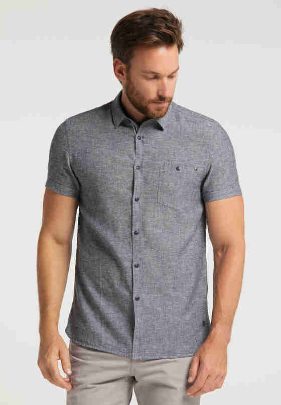 Hemd Chris Linen Shirt, Blau, model