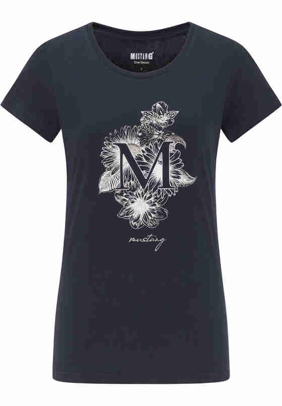 T-Shirt Alexia C Print, Blau, bueste