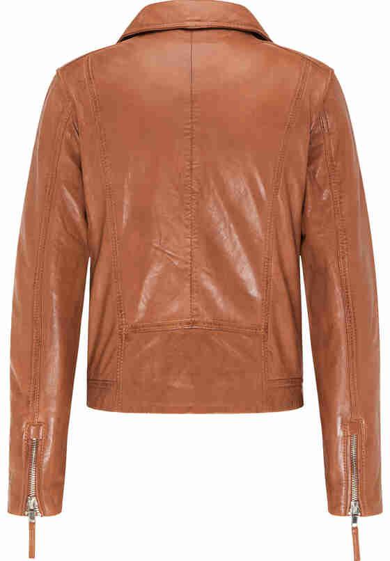 Jacke womens biker jacket, Braun, bueste