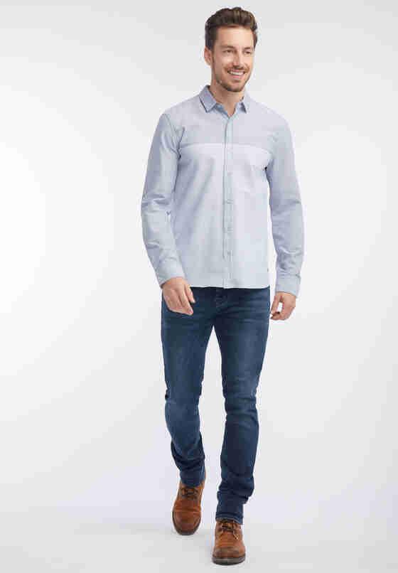 Hemd Langarm-Hemd, Blau, model