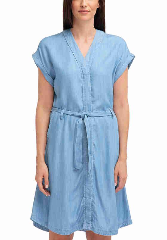 Kleid Lyocell Dress, Blau 300, model