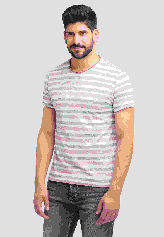 T-Shirt Aaron C Striped