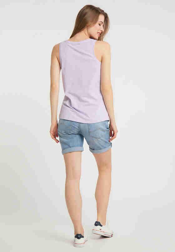T-Shirt Logoshirt, Lila, model