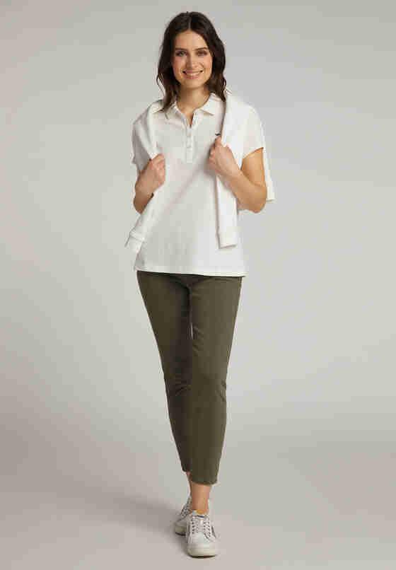 T-Shirt Poloshirt, Weiß, model