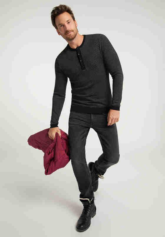 Sweater Strickpullover, Schwarz, model