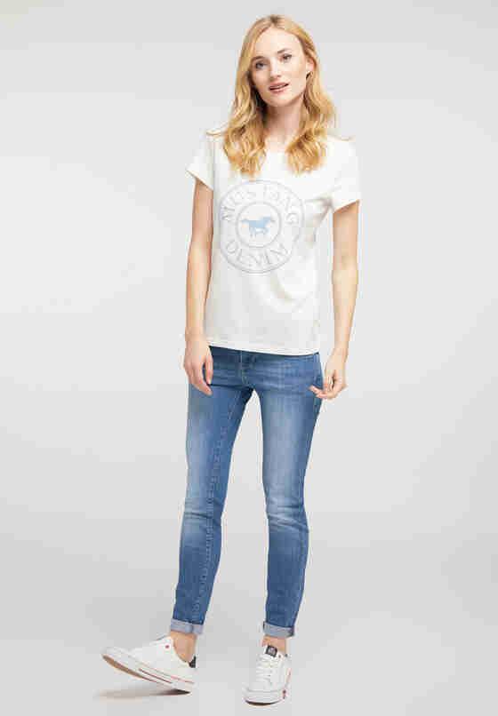 T-Shirt Label-Shirt, Weiß, model