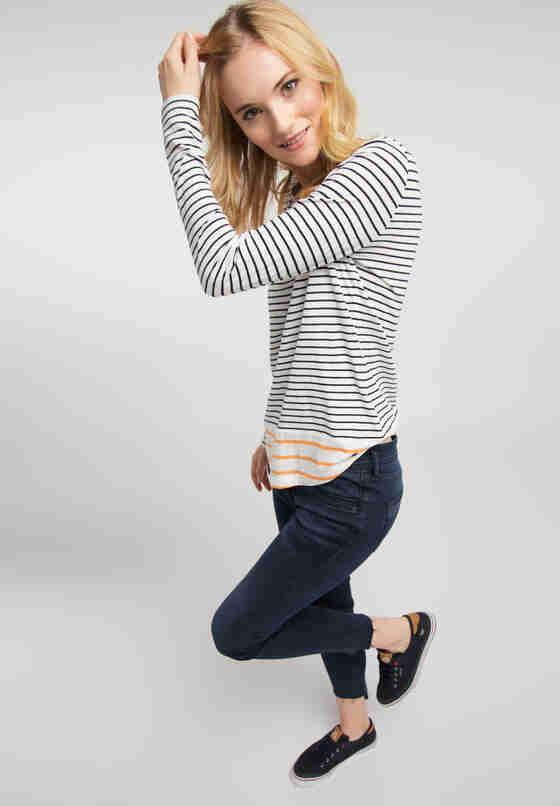 T-Shirt Anna H Striped, Bunt, model