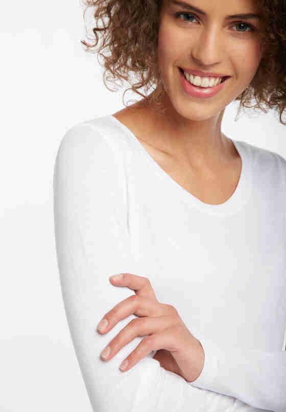 T-Shirt Longsleeve, Weiß, model