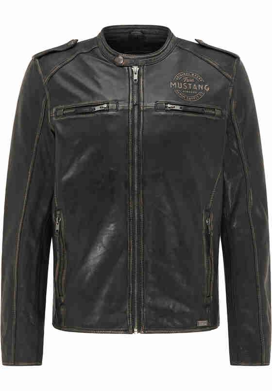 Jacke Lederjacke, Vintage black, bueste
