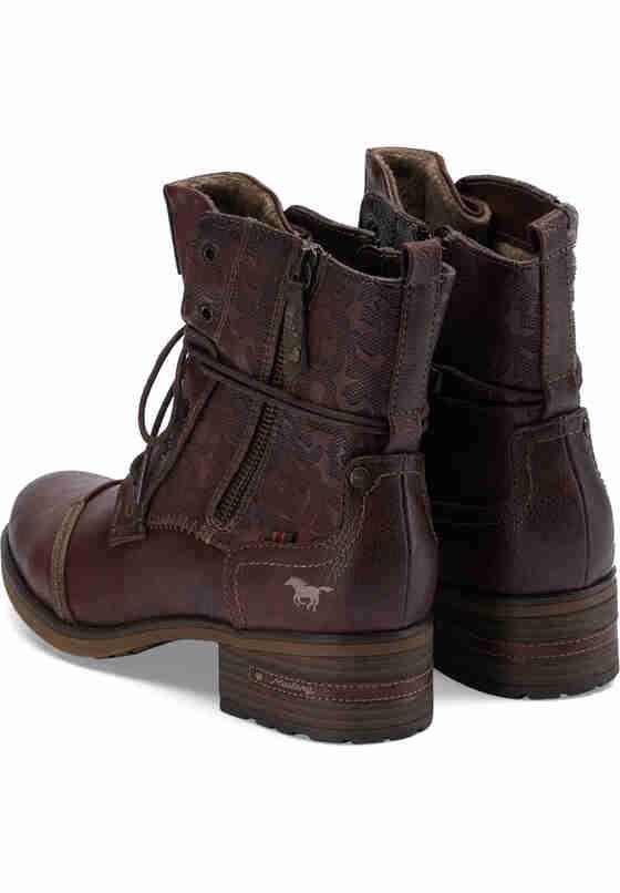 Schuh Schnür-Stiefelette, Rot, bueste