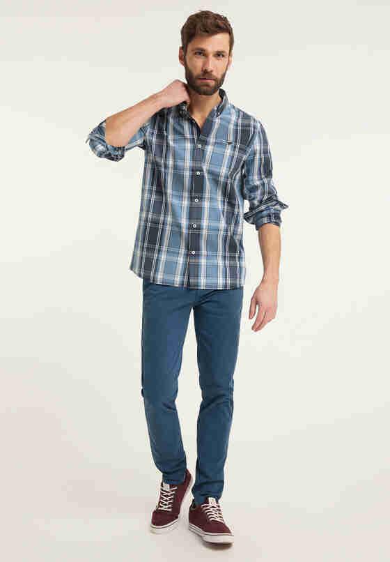 Hemd Langarmhemd, Blau, model