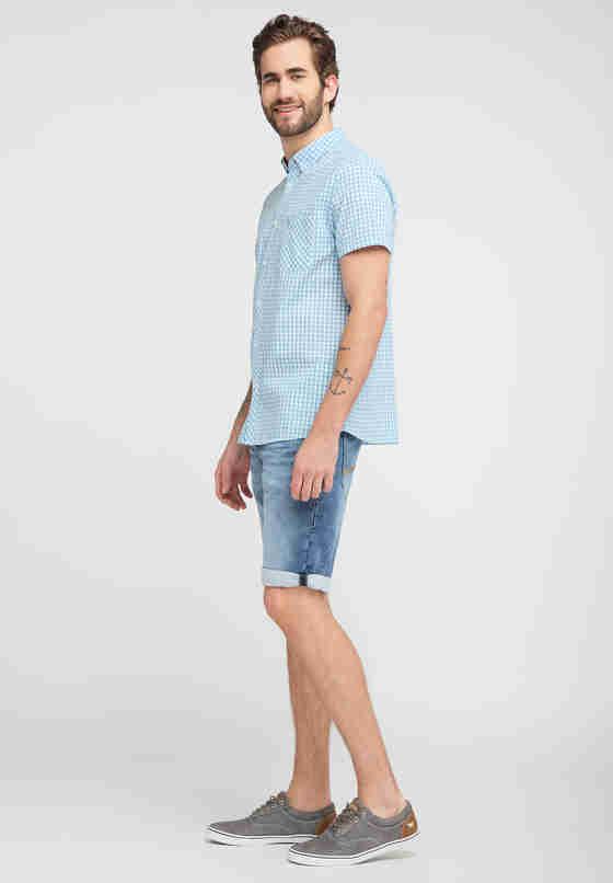 Hemd Kurzarmhemd, Blau, model