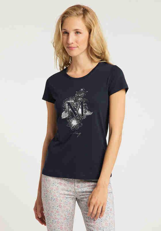 T-Shirt Alexia C Print, Blau, model