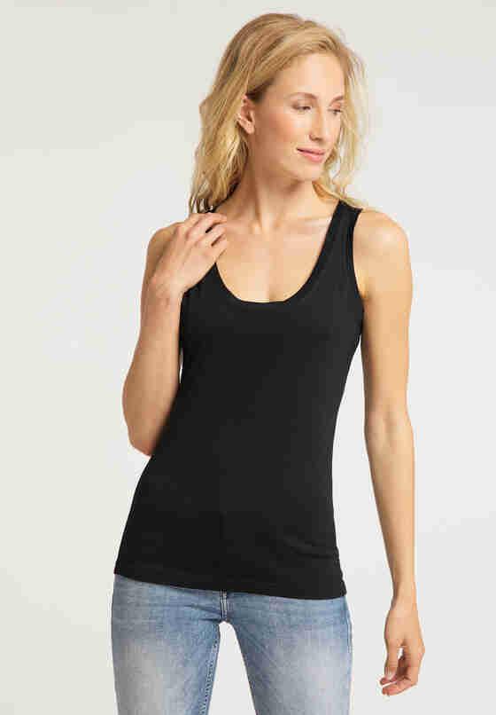 T-Shirt Tanktop, Schwarz, model