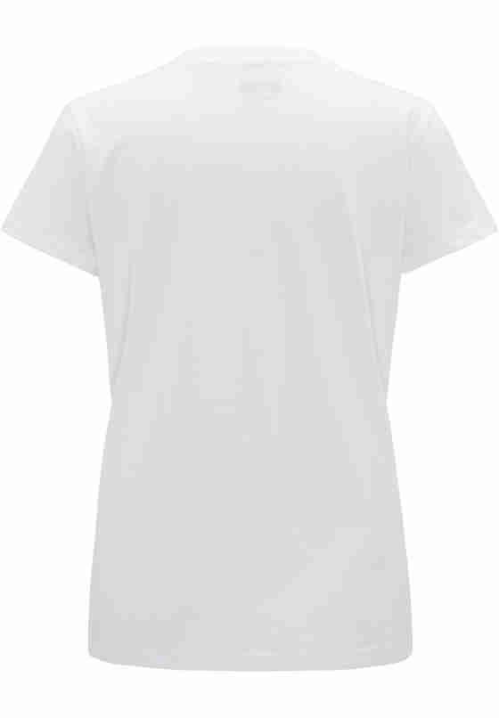 T-Shirt Flockprint-Shirt, Weiß, bueste