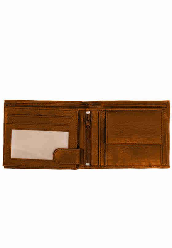 Accessoire Geldbörse Echtleder, Cognac, model