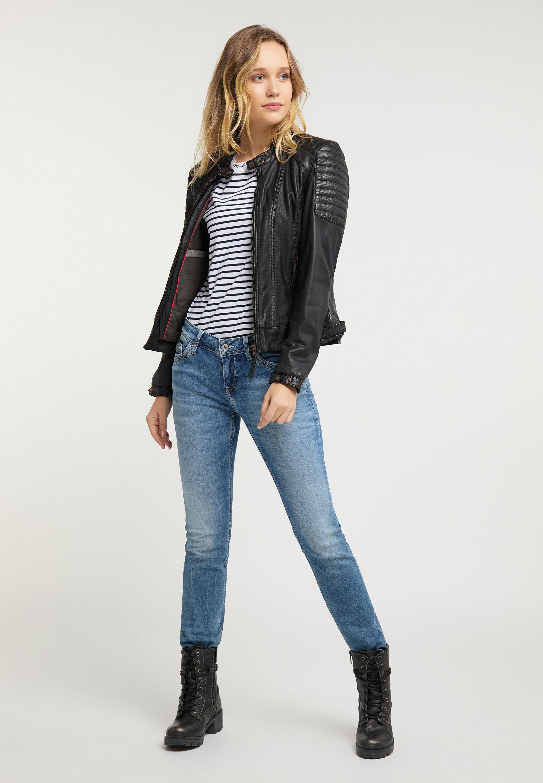 jeans jacke biker damen mustang