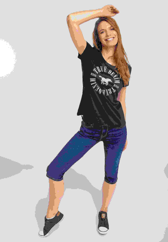 T-Shirt Shirt mit Logo-Print