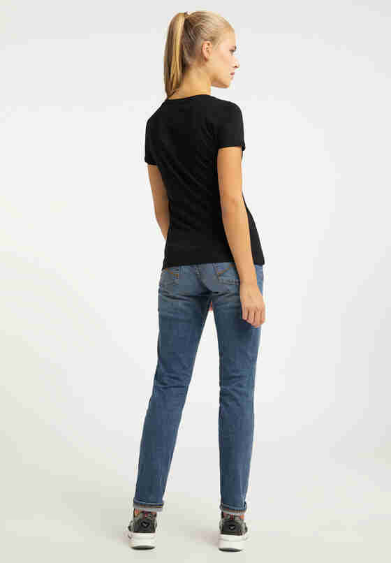 T-Shirt Print-Shirt, Schwarz, model