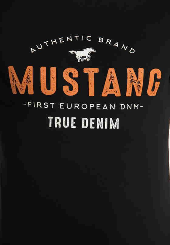 T-Shirt Print-Shirt, Schwarz, bueste