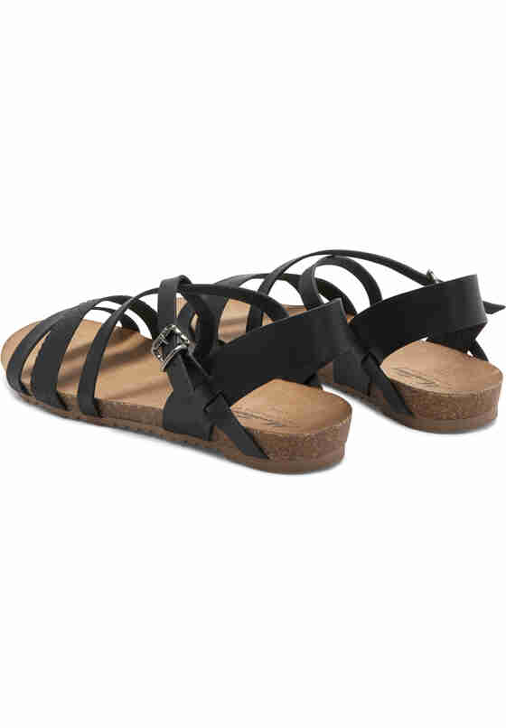 Schuh Sandale, Schwarz, bueste