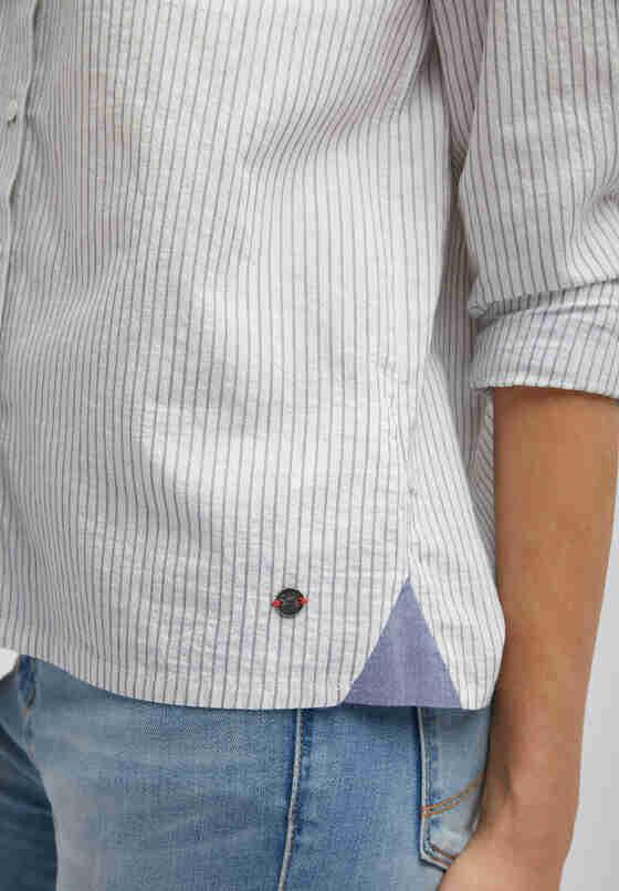 Bluse Streifenbluse, Blau, model