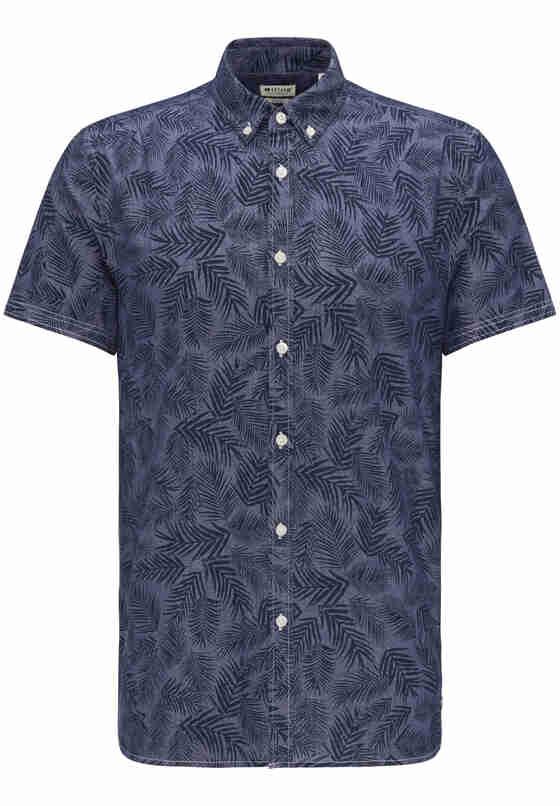 Hemd Print-Hemd, Blau, bueste