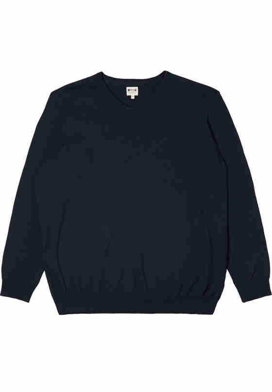 Sweater Basic V-Neck Jumper, Blau, bueste