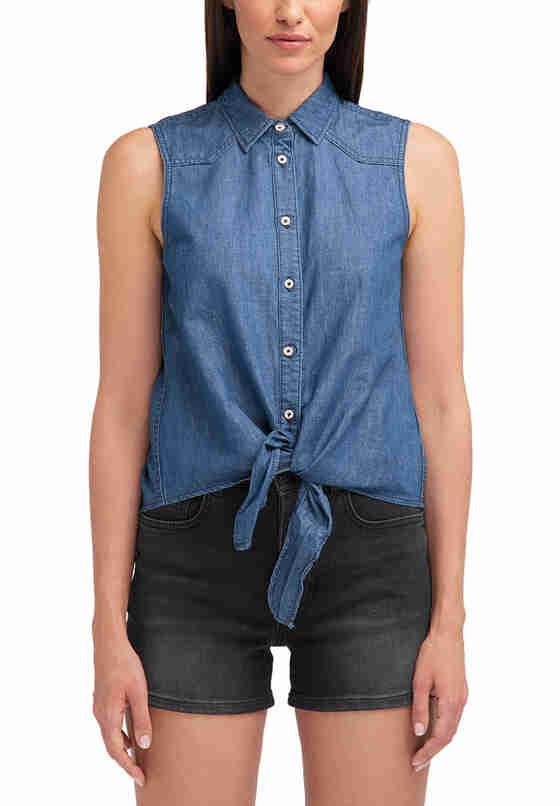 Hemd Tie Denim Shirt, Blau 686, model