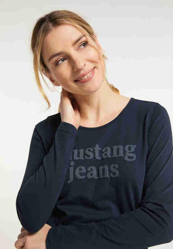 T-Shirt Langarmshirt, Blau, model