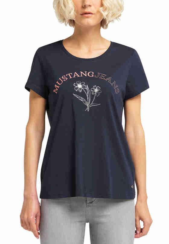 T-Shirt Alina C Print, Blau, model