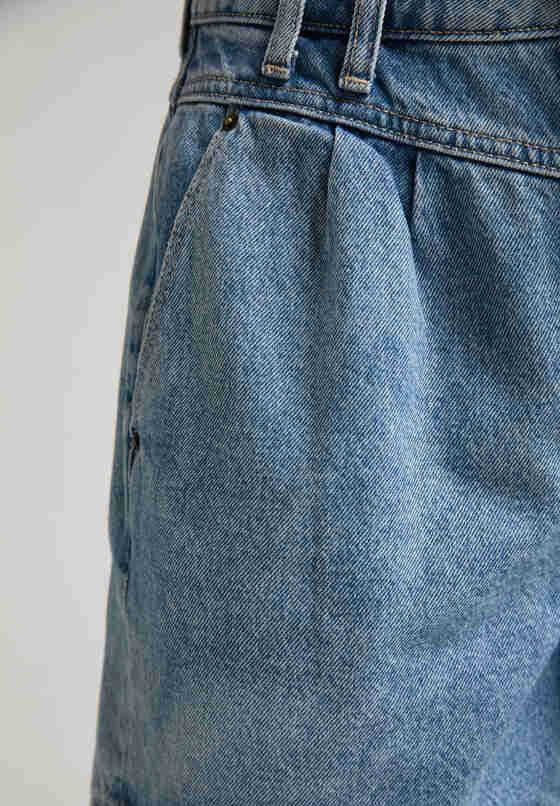 Hose Relaxed Moms Shorts, Blau 310, bueste