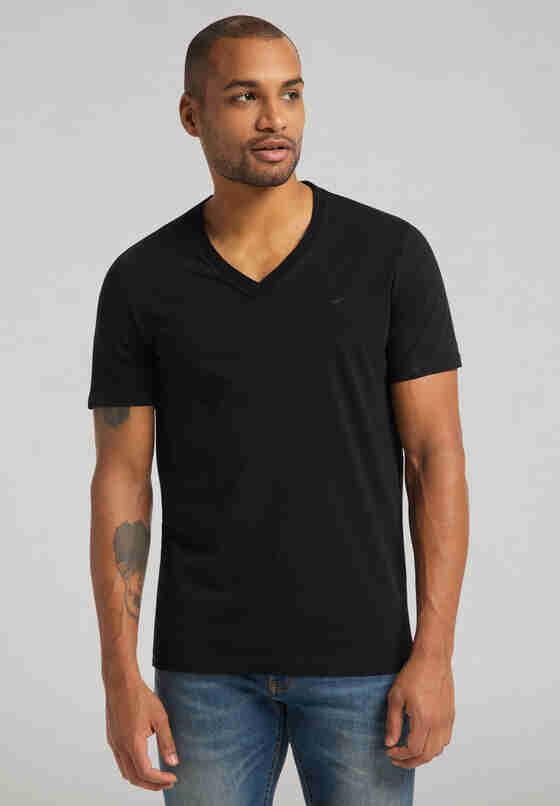 T-Shirt Shirt-Doppelpack, Schwarz, model