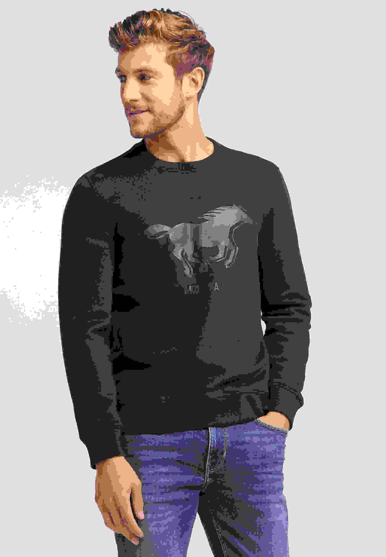 Sweatshirt Ben C Logoprint