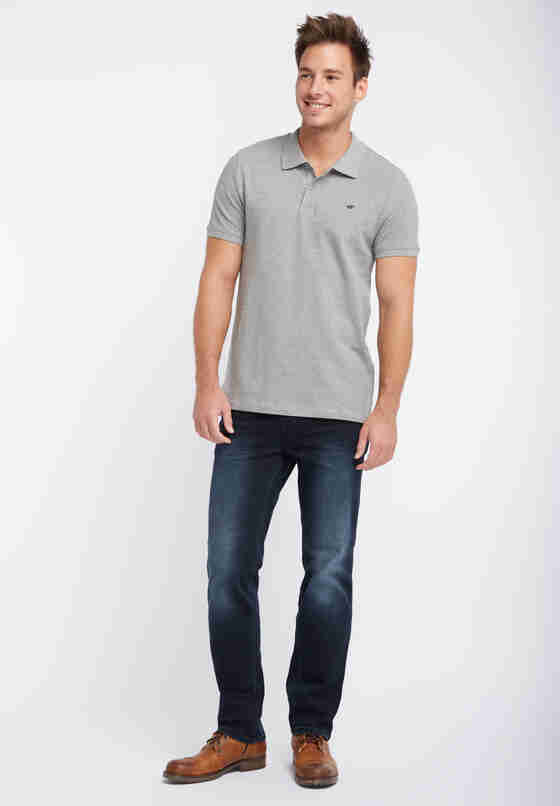 T-Shirt Poloshirt, Grau, model