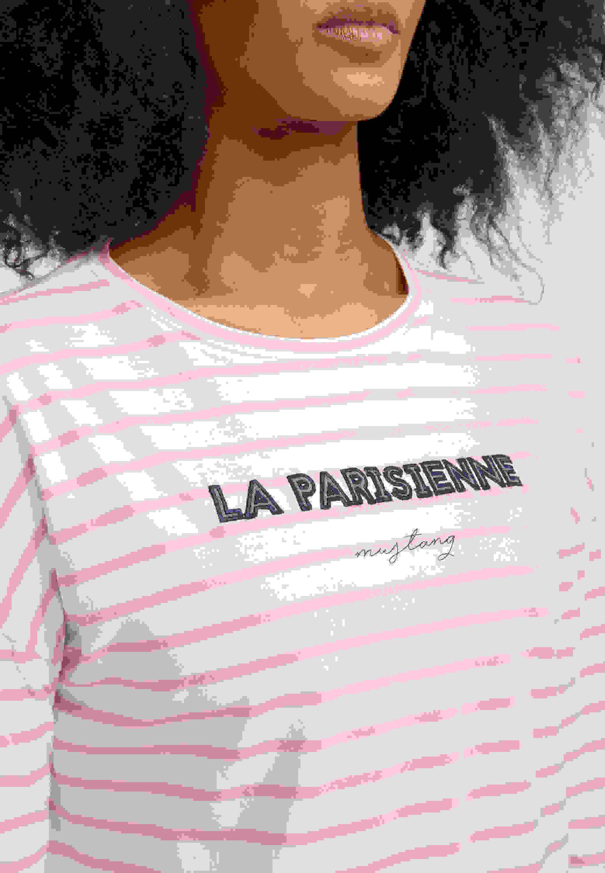 T-Shirt Streifen-Langarmshirt