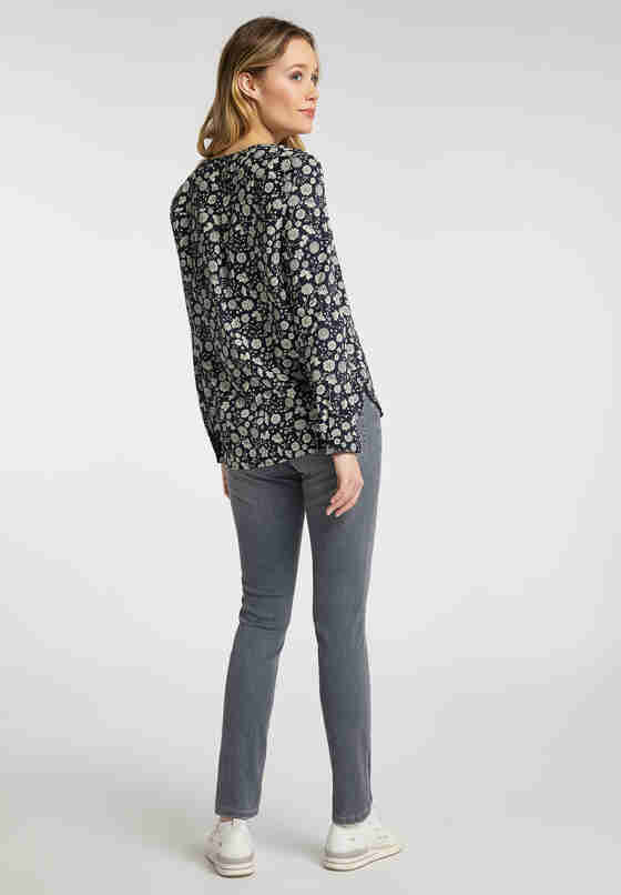 Bluse Emma V AOP, Blau, model