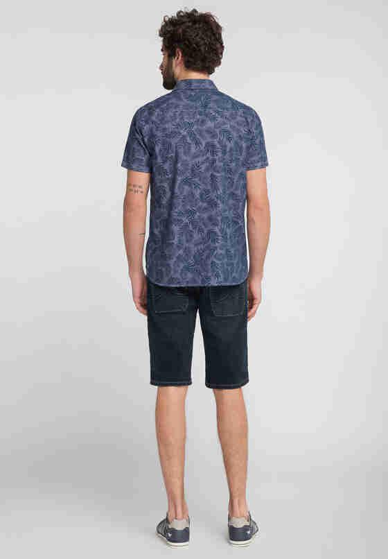 Hemd Print-Hemd, Blau, model