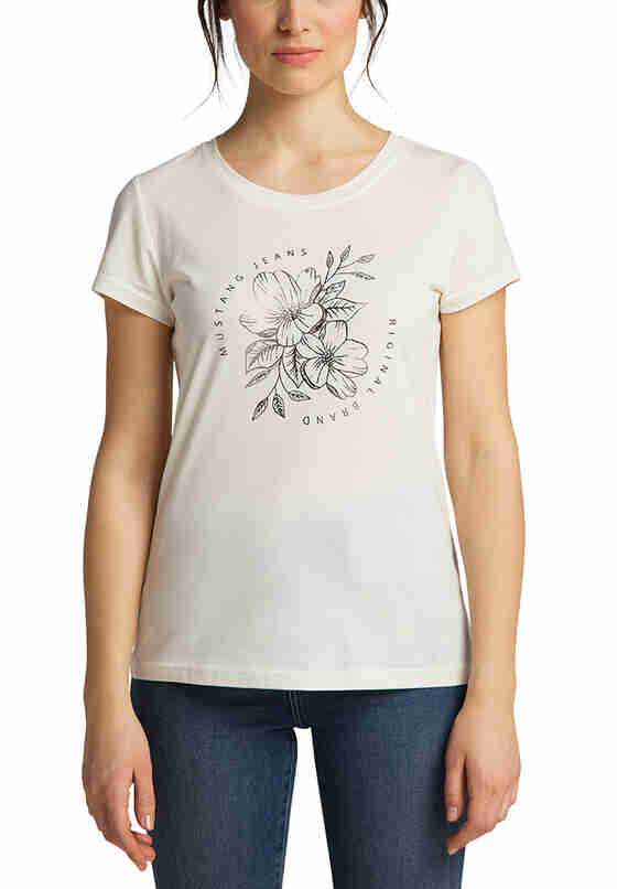 T-Shirt T-Shirt, Weiß, model