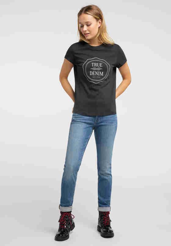 T-Shirt Alina C Print, Schwarz, model