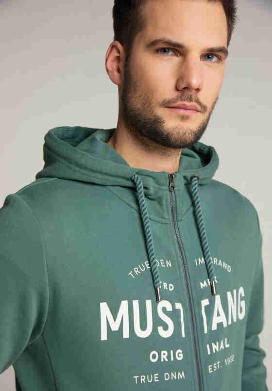 Sweatshirt Sweatjacke, Grün, model