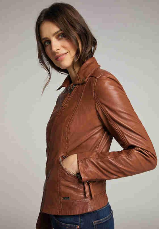 Jacke womens biker jacket, Braun, model