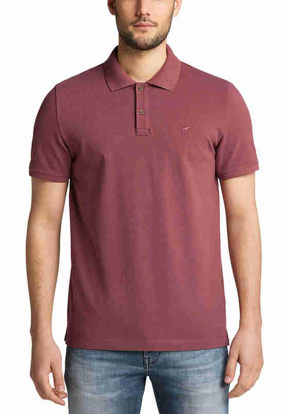 T-Shirt Poloshirt, Rot, model