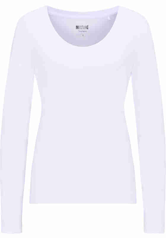 T-Shirt Basic-Longsleeve, Weiß, bueste
