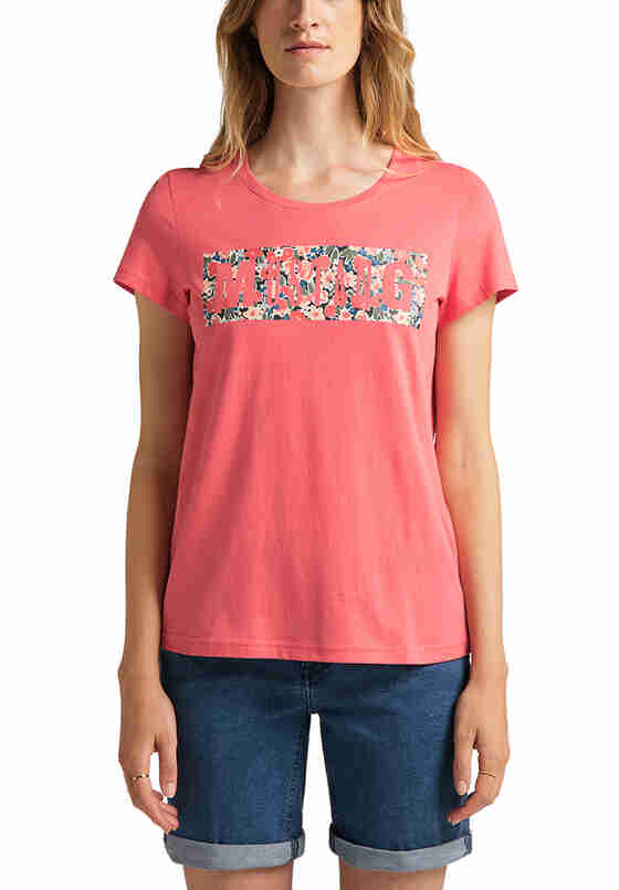 T-Shirt Label-Shirt, Rot, model
