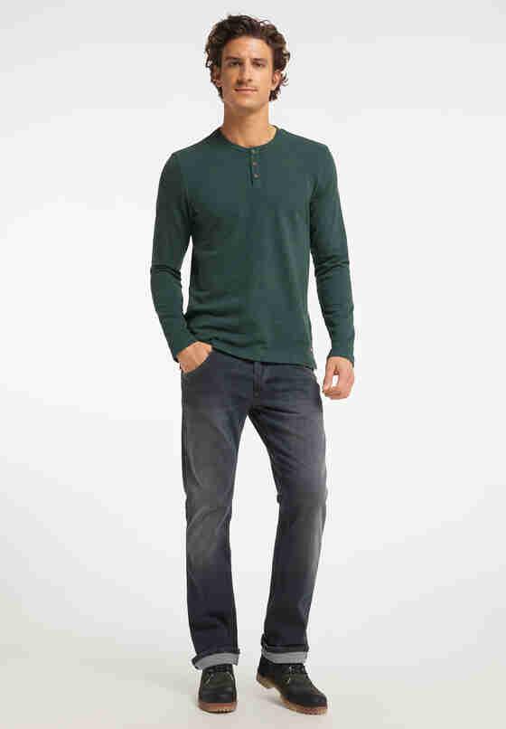 T-Shirt Langarmshirt, Grün, model
