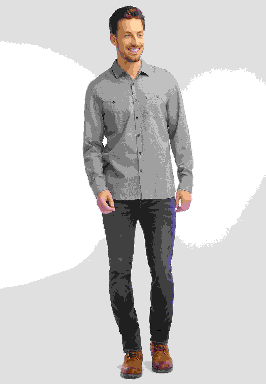 Hemd Melange-Hemd