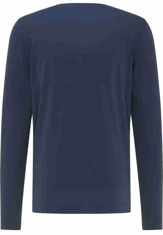 T-Shirt Logo-Langarmshirt, Blau, bueste