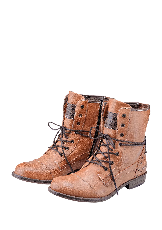Low Boots mit Vintage Finish