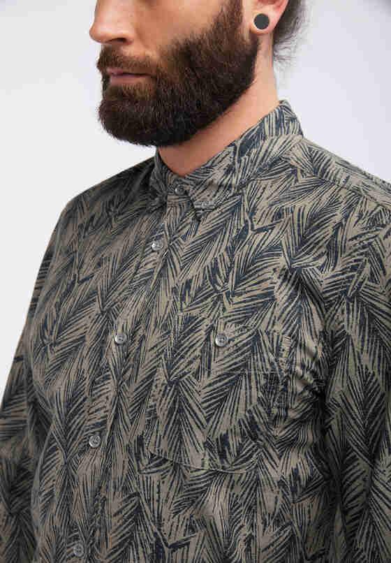 Hemd Print-Hemd, Grün, model